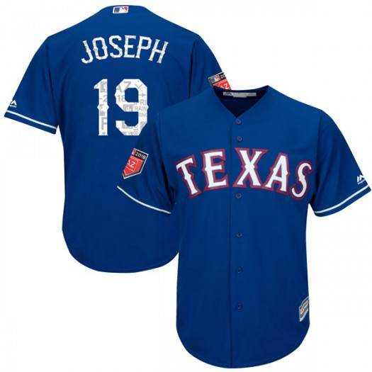 Men's Majestic Tommy Joseph Texas Rangers Player Replica Royal Cool Base 2018 Spring Training Jersey