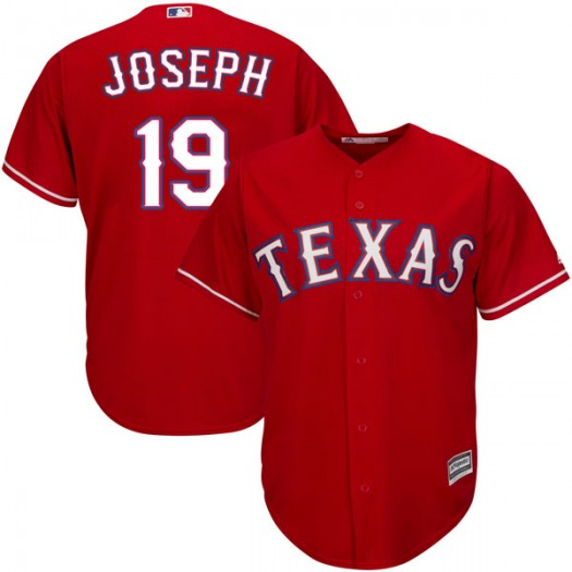 Youth Majestic Tommy Joseph Texas Rangers Player Replica Red Cool Base Alternate Jersey