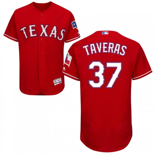 Youth Majestic Leody Taveras Texas Rangers Authentic Red Flex Base Alternate Collection Jersey