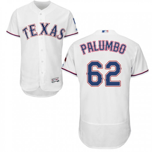 Youth Majestic Joe Palumbo Texas Rangers Authentic White Flex Base Home Collection Jersey
