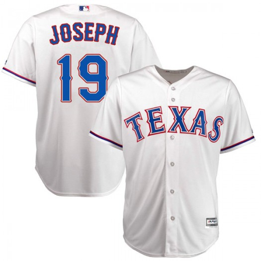 Men's Majestic Tommy Joseph Texas Rangers Player Replica White Cool Base Home Jersey