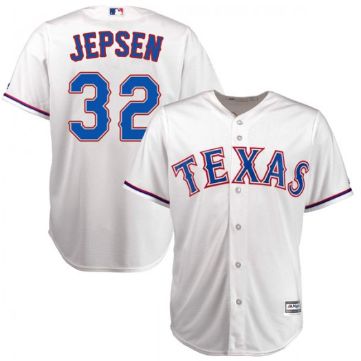 Youth Majestic Kevin Jepsen Texas Rangers Player Authentic White Cool Base Home Jersey