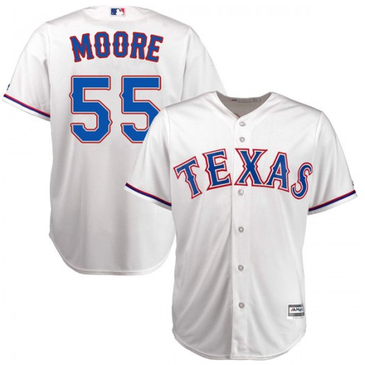Youth Majestic Matt Moore Texas Rangers Player Authentic White Cool Base Home Jersey